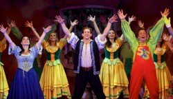 pantojack13Jack and the Beanstalk - Sarah Louise Day David Barrett and Jon Monie with Ensemble - Photo credit Anna Barclay